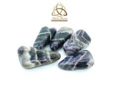 Améthyste chevron - pierre roulée