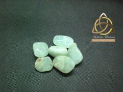 Préhnite verte - pierre roulée