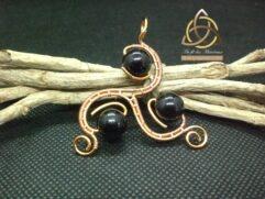 Pendentif Triskel onyx noir