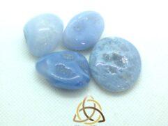 Calcédoine bleue - pierre roulée