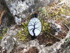 Pendentif sélénite arbre de vie